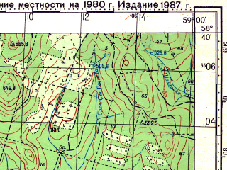 Reduced fragment of topographic map ru--gs--100k--o40-058--N058-40_E058-30--N058-20_E059-00; towns and cities Biser, Vizhay
