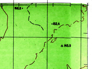 Reduced fragment of topographic map ru--gs--100k--o45-115--N057-00_E087-00--N056-40_E087-30