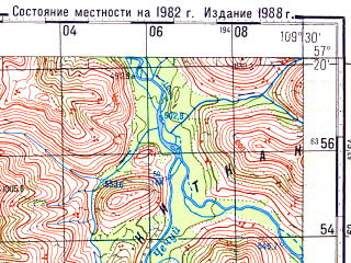Reduced fragment of topographic map ru--gs--100k--o49-099--N057-20_E109-00--N057-00_E109-30