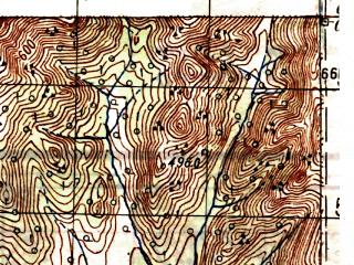 Reduced fragment of topographic map ru--gs--100k--o55-009--N060-00_E148-00--N059-40_E148-30
