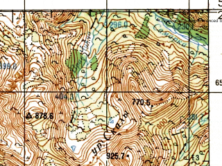 Reduced fragment of topographic map ru--gs--100k--o55-031--N059-20_E147-00--N059-00_E147-30