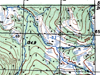 Reduced fragment of topographic map ru--gs--100k--o56-034--N059-20_E154-30--N059-00_E155-00