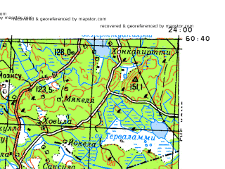 Download topographic map in area of Salo Somero Talola mapstorcom