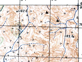 Reduced fragment of topographic map ru--gs--100k--p55-010--(1948)--N064-00_E148-30--N063-40_E149-00