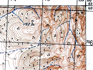 Reduced fragment of topographic map ru--gs--100k--p55-024--(1948)--N063-40_E149-30--N063-20_E150-00