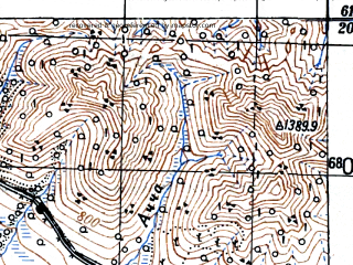 Reduced fragment of topographic map ru--gs--100k--p55-106--(1948)--N061-20_E148-30--N061-00_E149-00