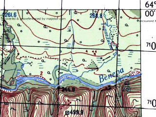 Reduced fragment of topographic map ru--gs--100k--p56-011_012--N064-00_E155-00--N063-40_E156-00