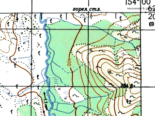 Reduced fragment of topographic map ru--gs--100k--p56-067_068--N062-20_E153-00--N062-00_E154-00