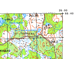 Download topographic map in area of Rovaniemi mapstorcom