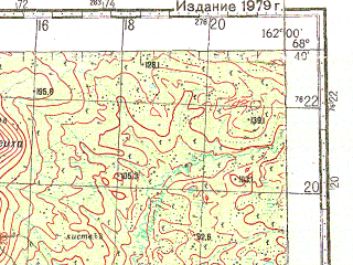 Reduced fragment of topographic map ru--gs--100k--r57-131_132--N068-40_E161-00--N068-20_E162-00; towns and cities Anyuysk, Malyy Anyuy, Panteleikha