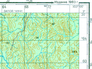 Reduced fragment of topographic map ru--gs--200k--a48-07--N003-20_E102-00--N002-40_E103-00; towns and cities Kuala Pilah, Bahau, Bukit Serok, Gambir, Kemayan