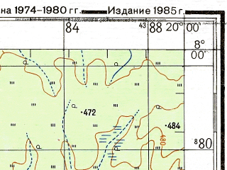 Reduced fragment of topographic map ru--gs--200k--b34-02--N008-00_E019-00--N007-20_E020-00