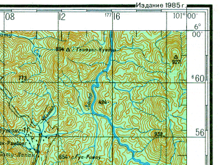 Reduced fragment of topographic map ru--gs--200k--b47-23--N006-00_E100-00--N005-20_E101-00; towns and cities Georgetown, Butterworth, Sungai Petani, Bukit Mertajam, Kulim