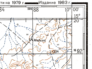 Reduced fragment of topographic map ru--gs--200k--d29-08--N015-20_W011-00--N014-40_W010-00; towns and cities Assatiemala, Dioka, Diongaga