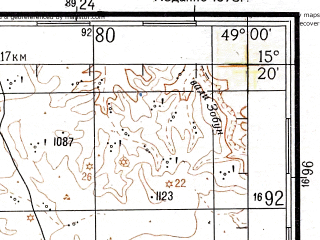 Reduced fragment of topographic map ru--gs--200k--d39-07--N015-20_E048-00--N014-40_E049-00; towns and cities Al Madillah, Al Mirad, As Sirrayn