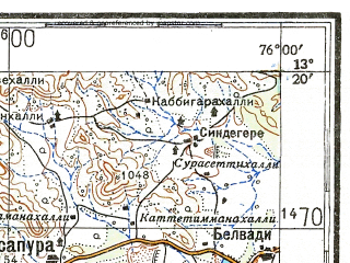 Download Topographic Map In Area Of Chikmagalur Bantwal Puttur - Chikmagalur map