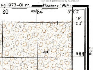 Reduced fragment of topographic map ru--gs--200k--e30-19--N018-00_W006-00--N017-20_W005-00