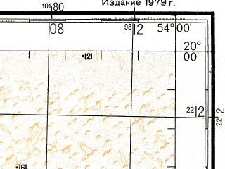 Reduced fragment of topographic map ru--gs--200k--e39-06--N020-00_E053-00--N019-20_E054-00
