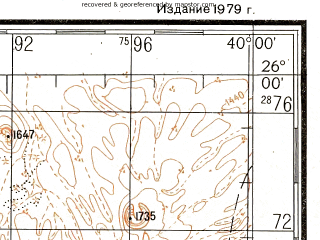 Reduced fragment of topographic map ru--gs--200k--g37-22--N026-00_E039-00--N025-20_E040-00; towns and cities Ash Shurayf