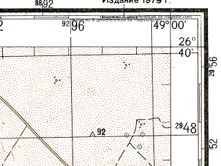Reduced fragment of topographic map ru--gs--200k--g39-13--N026-40_E048-00--N026-00_E049-00