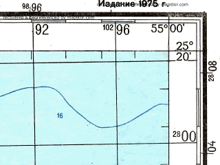 Reduced fragment of topographic map ru--gs--200k--g40-25--N025-20_E054-00--N024-40_E055-00