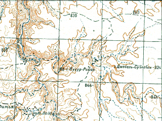 Reduced fragment of topographic map ru--gs--200k--h36-12--N031-20_E035-00--N030-40_E036-00; towns and cities Qasr, Rabba, En Hazeva