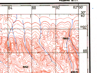 Reduced fragment of topographic map ru--gs--200k--h44-16--N030-40_E081-00--N030-00_E082-00; towns and cities Lanngazhoinkang, Siar, Ta-la-mo-chi