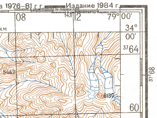 Reduced fragment of topographic map ru--gs--200k--i44-19--N034-00_E078-00--N033-20_E079-00; towns and cities Chushul, Digra, Tirido