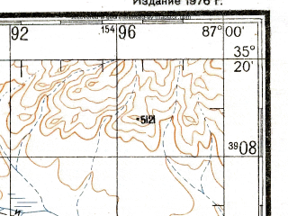 Reduced fragment of topographic map ru--gs--200k--i45-09--N035-20_E086-00--N034-40_E087-00