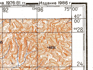 Reduced fragment of topographic map ru--gs--200k--j43-03--N040-00_E074-00--N039-20_E075-00