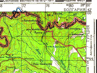 Download topographic map in area of Kirklareli Luleburgaz