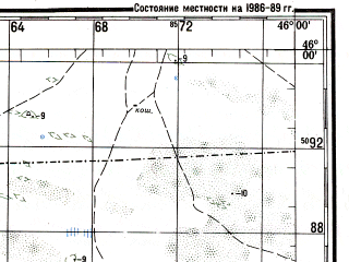 Reduced fragment of topographic map ru--gs--200k--l38-22--N046-00_E045-00--N045-20_E046-00; towns and cities Adyk, Bulmykta, Chernozemelskiy