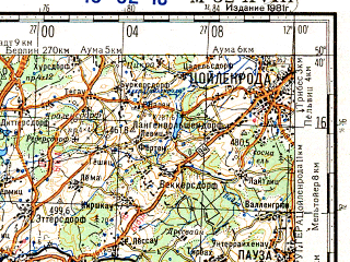 Reduced fragment of topographic map ru--gs--200k--m32-18--N050-40_E011-00--N050-00_E012-00 in area of Bleiloch Stausee, Hohenwarte Stausee; towns and cities Hof, Kulmbach, Saalfeld, Sonneberg, Kronach