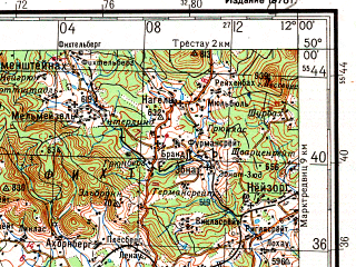Download topographic map in area of Nurnberg Erlangen Bayreuth