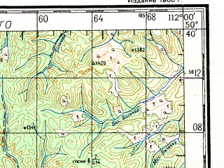 Reduced fragment of topographic map ru--gs--200k--m49-16--N050-40_E111-00--N050-00_E112-00