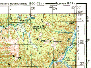 Reduced fragment of topographic map ru--gs--200k--m49-20--N050-00_E109-00--N049-20_E110-00