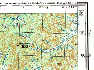 Reduced fragment of topographic map ru--gs--200k--m52-06--N052-00_E131-00--N051-20_E132-00