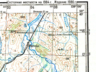 Reduced fragment of topographic map ru--gs--200k--m53-18--N050-40_E137-00--N050-00_E138-00 in area of Ozero Hummi; towns and cities Komsomol'sk-na-amure, Dzemgi, Pivan', Machtovyy