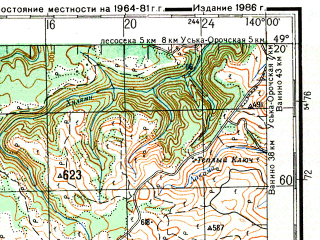 Reduced fragment of topographic map ru--gs--200k--m54-26--N049-20_E139-00--N048-40_E140-00