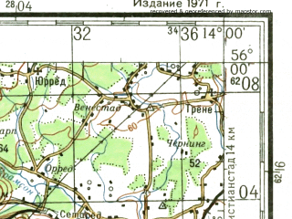 Reduced fragment of topographic map ru--gs--200k--n33-02--N056-00_E013-00--N055-20_E014-00 in area of O. Ringsjon, V. Ringsjon, Vombsjon; towns and cities Malmo, Lund, Trellborg, Ystad, Staffenstrop