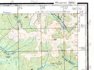 Reduced fragment of topographic map ru--gs--200k--n47-20--N054-00_E097-00--N053-20_E098-00