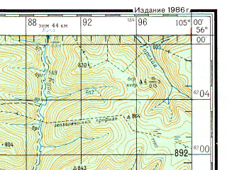 Reduced fragment of topographic map ru--gs--200k--n48-03--N056-00_E104-00--N055-20_E105-00