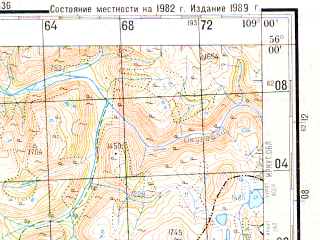 Reduced fragment of topographic map ru--gs--200k--n49-01--N056-00_E108-00--N055-20_E109-00