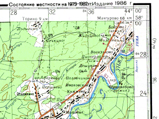 Reduced fragment of topographic map ru--gs--200k--o38-20--N058-00_E043-00--N057-20_E044-00; towns and cities Makar'yev, Sokol'skoye