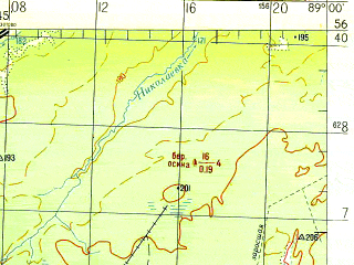 Reduced fragment of topographic map ru--gs--200k--o45-35--N056-40_E088-00--N056-00_E089-00; towns and cities Dvurechenskiy, Irinovka, Suslovo
