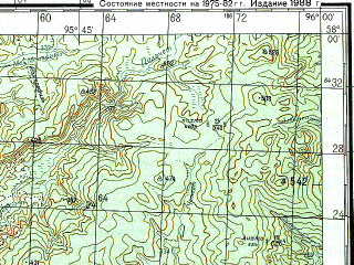 Reduced fragment of topographic map ru--gs--200k--o46-24--N058-00_E095-00--N057-20_E096-00