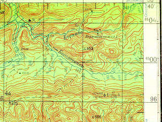 Reduced fragment of topographic map ru--gs--200k--o47-16--N058-40_E099-00--N058-00_E100-00; towns and cities Rozhkova, Ust-kezhma, Dvorets