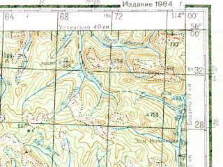 Reduced fragment of topographic map ru--gs--200k--o49-24--N058-00_E113-00--N057-20_E114-00