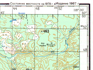 Reduced fragment of topographic map ru--gs--200k--o50-04--N060-00_E117-00--N059-20_E118-00; towns and cities Nokhtuysk, Tochilnoye, Macha