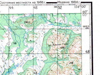 Reduced fragment of topographic map ru--gs--200k--o56-04--N060-00_E153-00--N059-20_E154-00